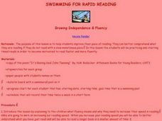 Swimming For Rapid Reading Lesson Plan
