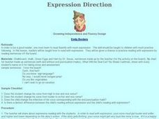 Expression Direction: Growing Independence and Fluency Lesson Plan