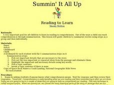 Summin' It All Up Lesson Plan