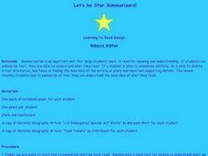 Let's be Star Summarizers Lesson Plan