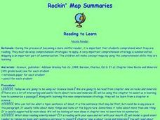 Rockin' Map Summaries Lesson Plan