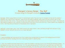 Emergent Literacy Design: Play Ball! Lesson Plan