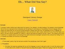Eh...What Did You Say? Lesson Plan