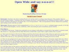 Open Wide And Say O Lesson Plan