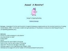 Aaaaa! A Monster! Lesson Plan