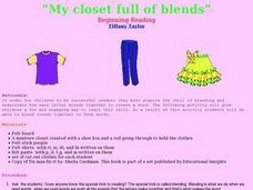My Closet Full of Blends Lesson Plan