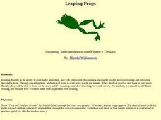 Leaping Frogs Lesson Plan