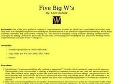 Five Big W's Lesson Plan