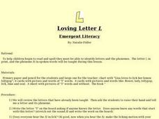"Loving Letter ""L"" Lesson Plan"
