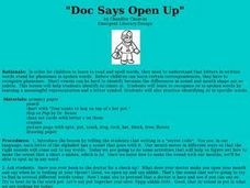 Doc Says Open Up Lesson Plan