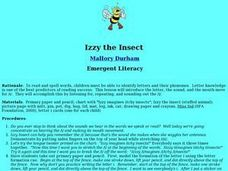 Izzy the Insect Lesson Plan