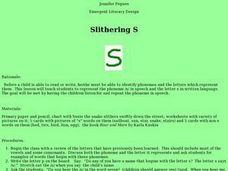 "Slithering ""S"" Lesson Plan"