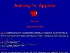Ashley's Apples Lesson Plan