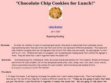 Chocolate Chip Cookies for Lunch Lesson Plan