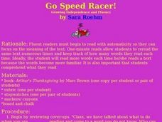 Go, Speed Racer!! Lesson Plan