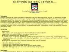 It's My Party and I'll Cry if I Want to.... Lesson Plan