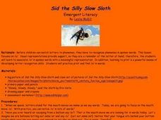 Sid the Silly Slow Sloth Lesson Plan