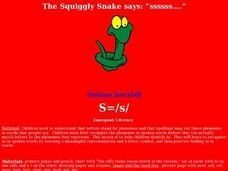 "The Squiggly Snake says: ""ssssss...."" Lesson Plan"
