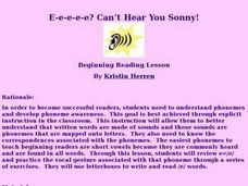 I Can't Hear You Sonny Lesson Plan