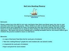 Sail into Reading Fluency Lesson Plan