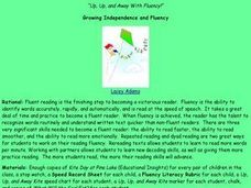 Up, Up, and Away With Fluency Lesson Plan
