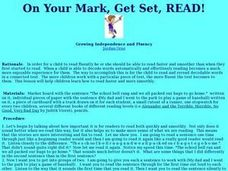 On Your Mark, Get Set, Read!!! Lesson Plan