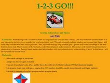 1, 2, 3 Go! Lesson Plan