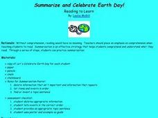 Summarize and Celebrate Earth Day! Lesson Plan
