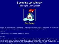 Summing up Winter! Lesson Plan