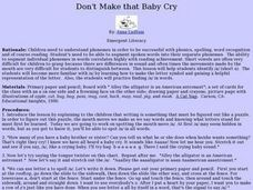 Don't Make that Baby Cry Lesson Plan