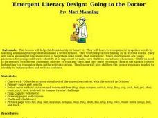 Emergent Literacy Design:  Going to the Doctor Lesson Plan