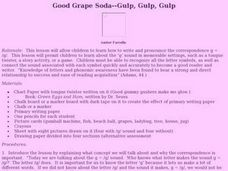 Good Grape Soda--Gulp, Gulp, Gulp Lesson Plan