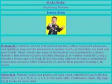 Sticky Ricky! Lesson Plan