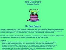Jake Makes Cake Lesson Plan