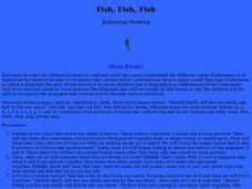 Fish, Fish, Fish Lesson Plan