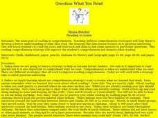 Question What You Read Lesson Plan