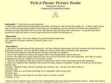 Pick-A-Phonic Picture Books Lesson Plan