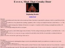 E-e-e-e, Shut That Creaky Door Lesson Plan