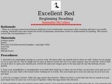 Excellent Red Lesson Plan