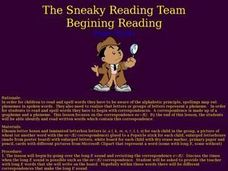 The Sneaky Reading Team Lesson Plan
