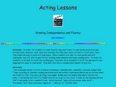 Acting Lessons Lesson Plan
