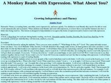 A Monkey Reads With Expression. What About You? Lesson Plan