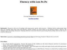 Fluency with Lon Po Po Lesson Plan