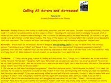 Calling All Actors and Actresses Lesson Plan