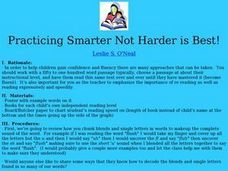 Practicing Smarter Not Harder is Best! Lesson Plan