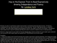 Hop on the Express Train to Read Expressively Lesson Plan