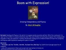 Boom with Expression! Lesson Plan