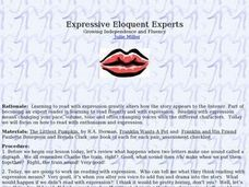 Expressive Eloquent Experts Lesson Plan