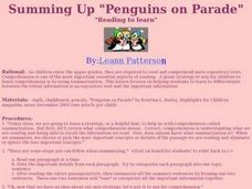 "Summing Up ""Penguins on Parade"" Lesson Plan"