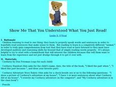 Show Me That You Understood What You Just Read Lesson Plan